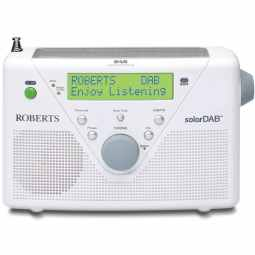 Roberts SolarDAB 2 - Solar Powered DAB/FM Radio (White)