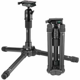 Velbon Ultrek UT-53D - Travel Tripod with Ball & Socket Head and case