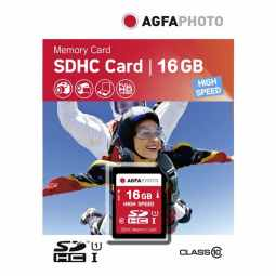 AGFA 16GB SDHC UHS-1 Class 10 - Memory Card