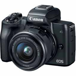 Canon EOS M50 + EF-M 15-45mm - Mirrorless Camera (Black)