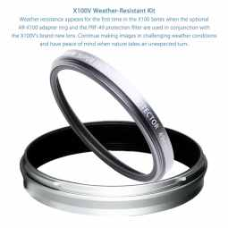 Fujifilm X100V Weather Resistance kit | Silver